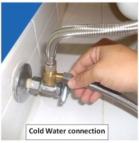 Cold water connection